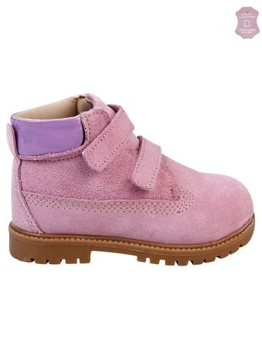Boots Deri Kız Çocuk Bot Pembe